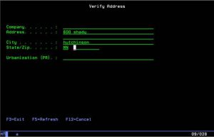 RPG-XML Suite used to verify addresses with FedEx