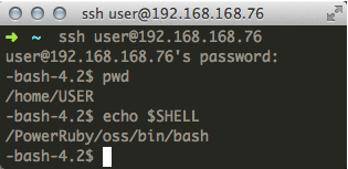 Logging into IBM i via ssh using Mac's Terminal