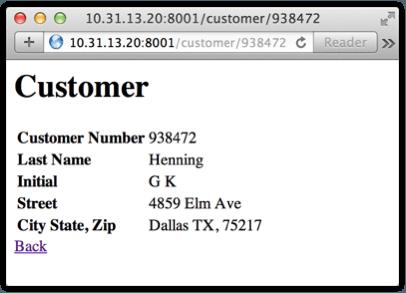 Individual customer listing.
